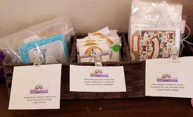 Products made by Harvest Host Guests