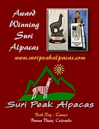 SURI PEAK ALPACAS - Logo