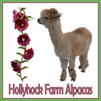 Hollyhock Farm Alpacas - Logo