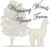 Whispering Winds Alpaca Farm - Logo
