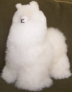Photo of Stuffie Alpaca made from alpaca fleece