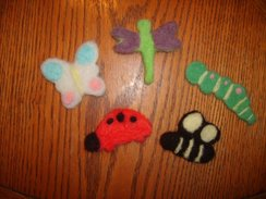 Needle Felted Pins
