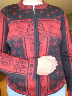 Photo of Snowflake Zipper Cardigan