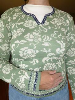 Ladies Silk-Blend Pullover