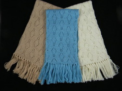 Lace Scarf with Fringe