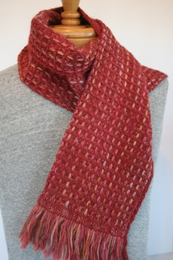 Our beautiful waffle weave scarf heads to France!