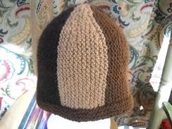 Three-color natural alpaca hat