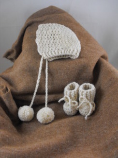 Photo of Crochet Infant Hat and Booties
