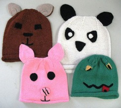 Kid's Hand Knitted Animal Hat