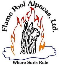 Flame Pool Alpacas - Logo