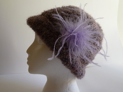 Boucle Hats with Feathers