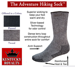 Photo of The Adventure Sock: Medium Hiking Tweed