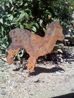 Metal Huacaya/Suri Garden Stake