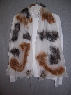 Photo of Nuno Felted Scarves on Silk