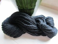 Beautiful Black Chunky Alpaca Yarn