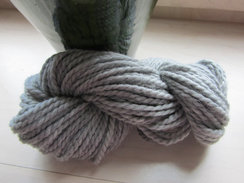 Light Silver Grey Chunky Alpaca Yarn