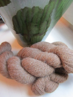 Dark Fawn/Light Brown Alpaca Yarn