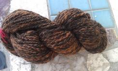 100% Alpaca Hand Spun Black/Brown
