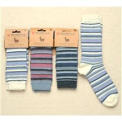 Photo of ALPACA BAMBOO STRIPE CREW SOCKS
