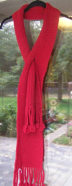 Photo of Pearl knit slit scarf