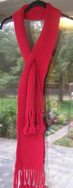 Pearl knit slit scarf