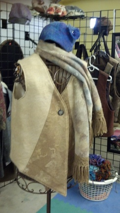 Women's Tan and Fawn Vest