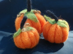 Needle felted alpaca pumpkin - Small