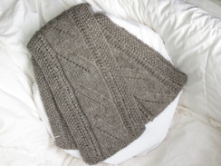 Photo of Grey 100% alpaca scarf - SOLD