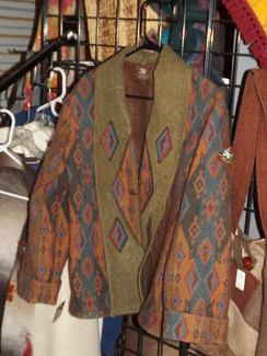 Southwest Design Felted Coat