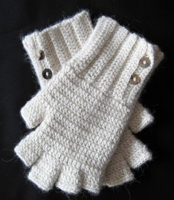 Gloves - Fingerless with Button Accents