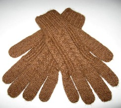 Gloves w/Cable-Stitching - Item #CA104B