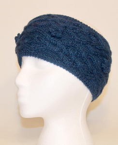 Cable-Knit Alpaca Headband - #1