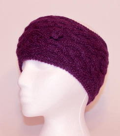 Cable-Knit Alpaca Headband - #2