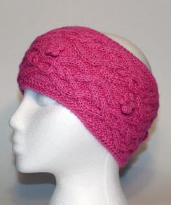 Cable-Knit Alpaca Headband - #3