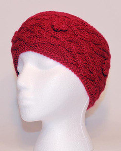 Cable-Knit Alpaca Headband - #5