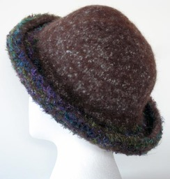 Felted Alpaca Hat #1