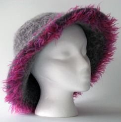 Felted Alpaca Hat #8