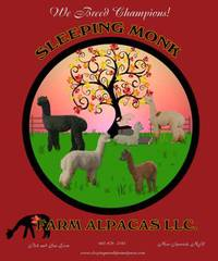 SLEEPING MONK FARM ALPACAS  - Logo