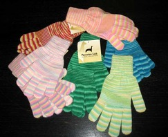 Candy Stripe Alpaca Gloves