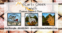McCarty Creek Ranch Custom Stained Glass - Logo
