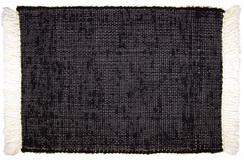 Black Woven Alpaca Rug