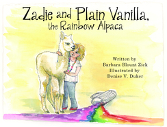 Zadie & Plain Vanilla,the Rainbow Alpaca