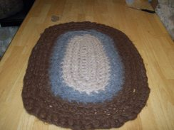 Crochet and Felted Alpaca Rug #2