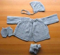 100% Baby Alpaca, Hand-Knit Baby Sweater