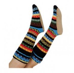 100% Alpaca Slipper-Sock