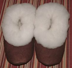 Alpaca Fur / Suede Slipper