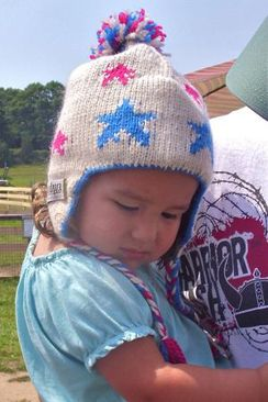 Alpaca Star Hat & Mitten for Children