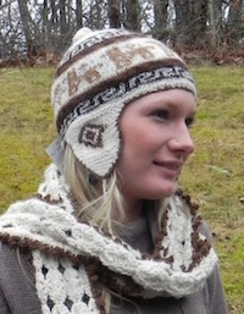 Photo of Hand-Made, Alpaca Rustic Hat with Flaps
