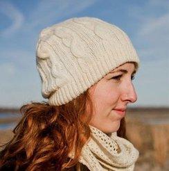 100% Alpaca Cable Hat