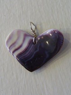 Photo of Wampum Heart Pendant